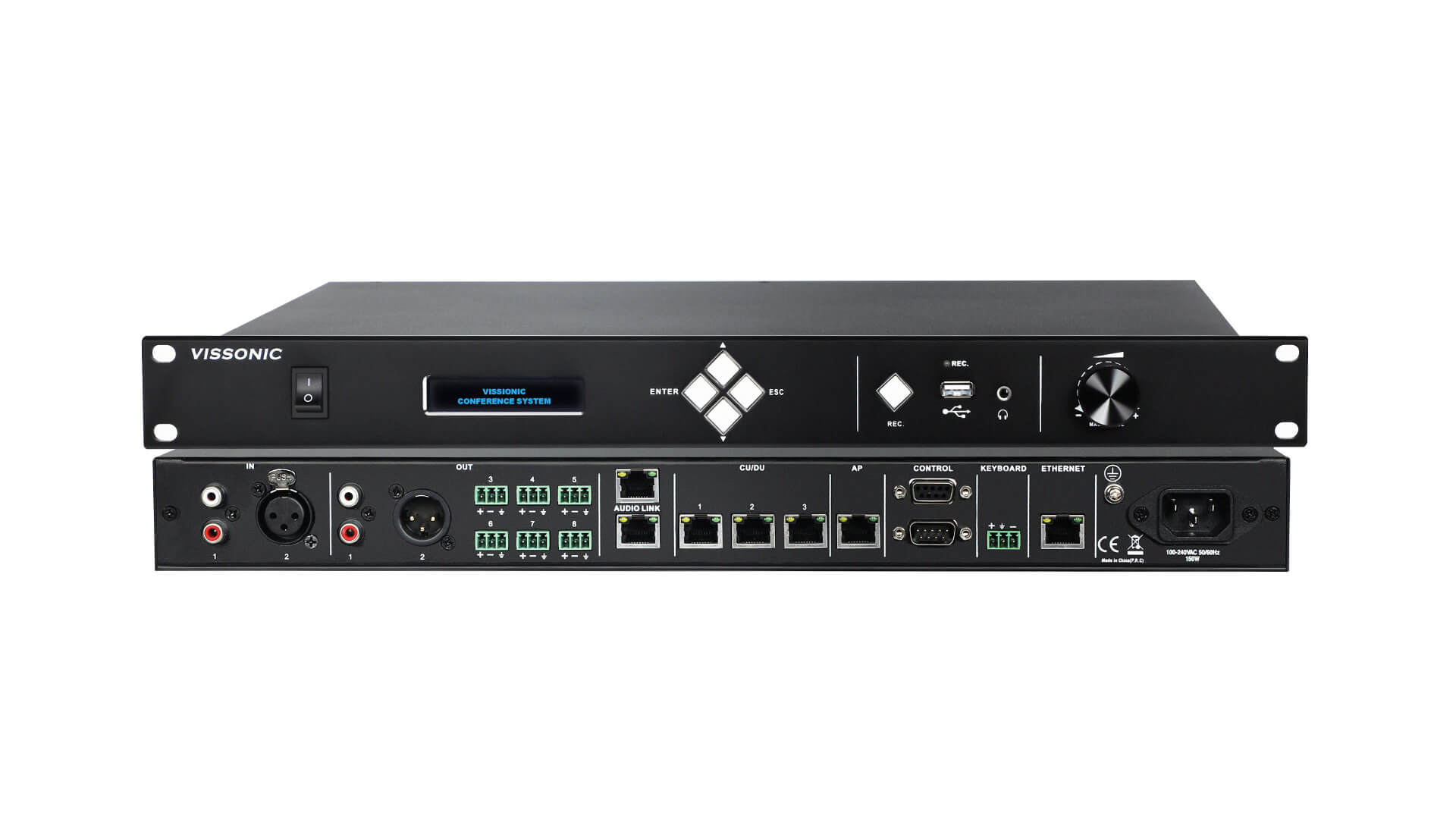 Full Digital Networked DSP Conference Processor